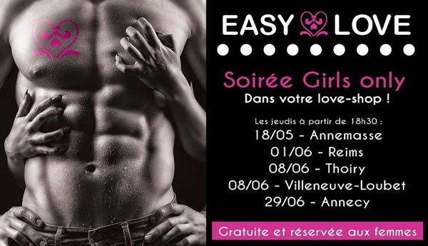 SOIREE GIRLY chez EASY LOVE  Annecy le  juin