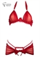 Ensemble soutien-gorge voile et string nu drapé - Collection lingerie Innovations
